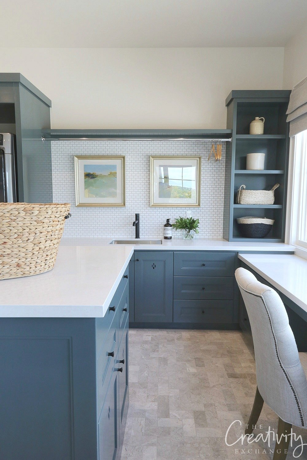 Combination laundry room and craft room. Utah Valley Parade of Homes.
