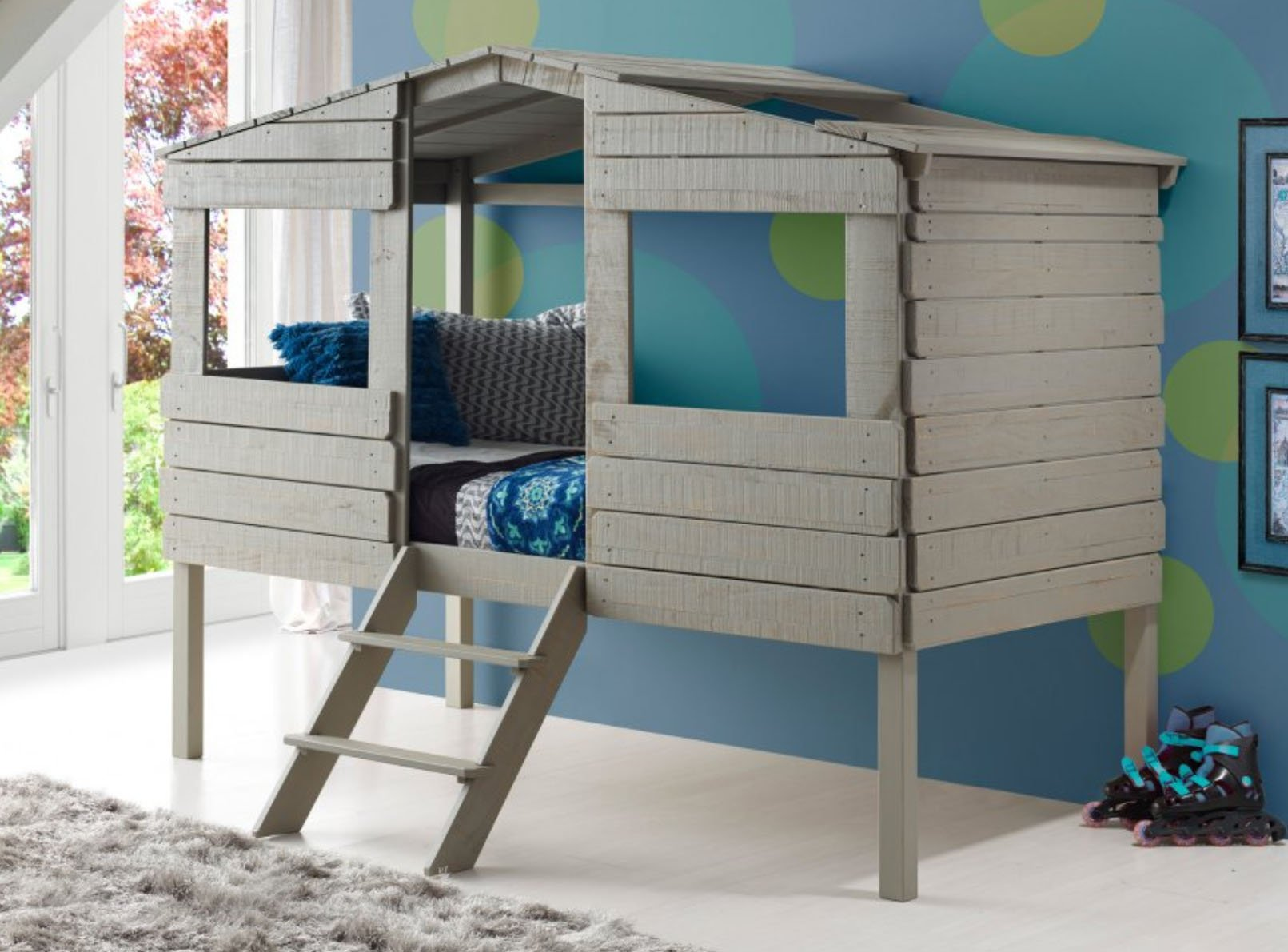 Donco Twin Treehouse Loft Bed