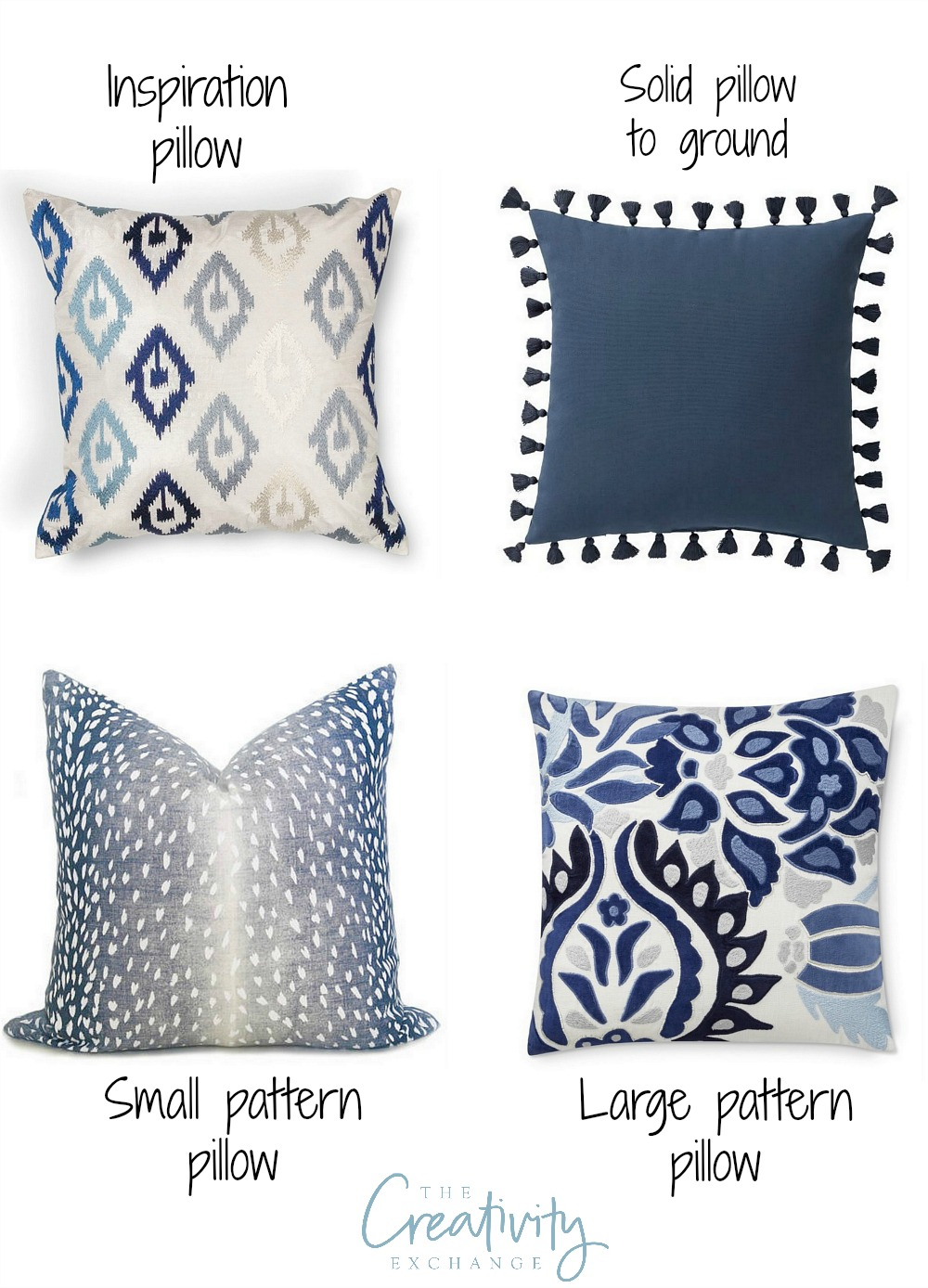 How to layer and mix pillow patterns and colors
