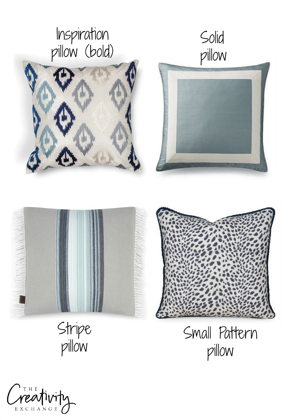 How to mix fabric and pillow patterns and colors