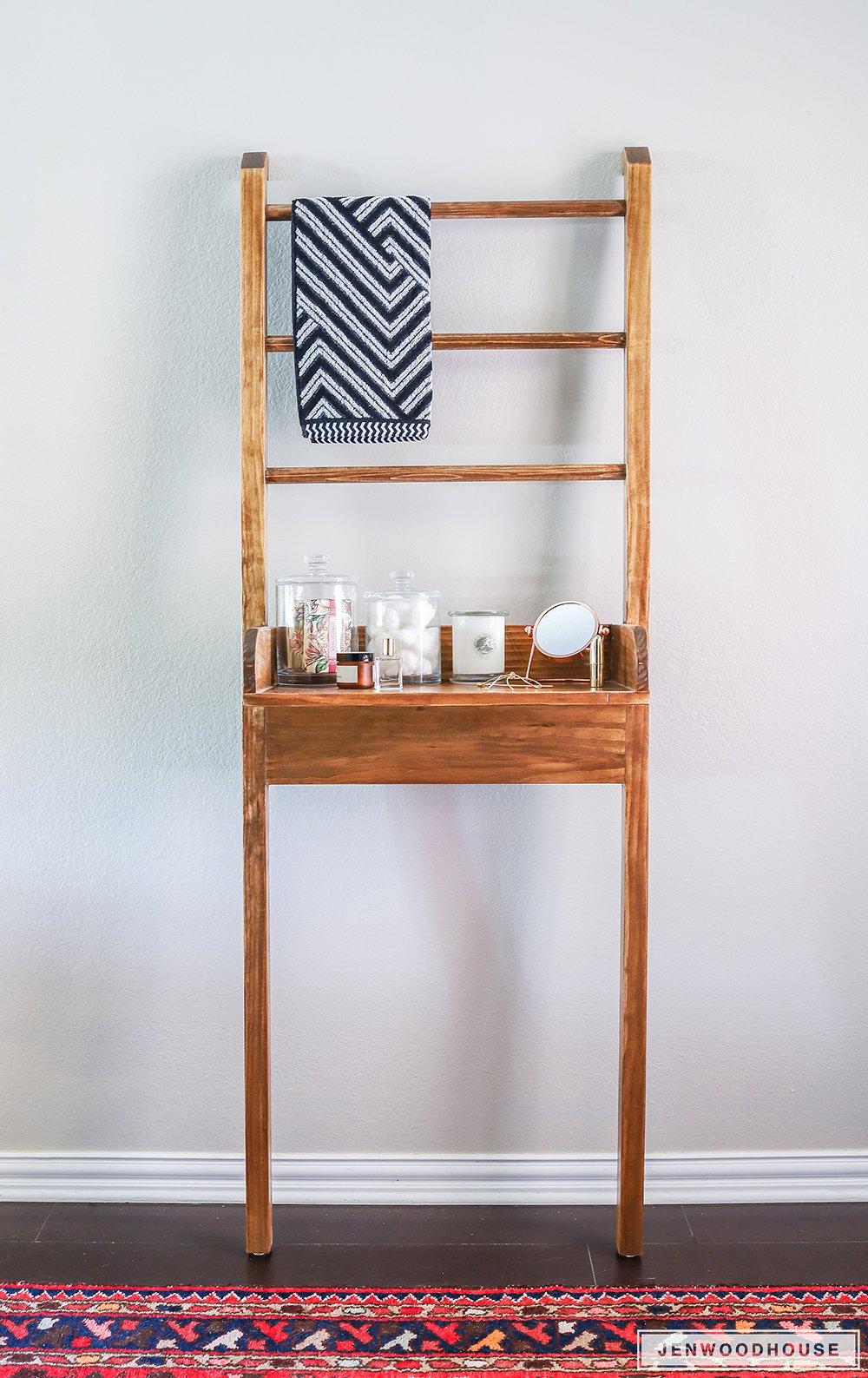 Leaning Bathroom Shelf Jen Woodhouse