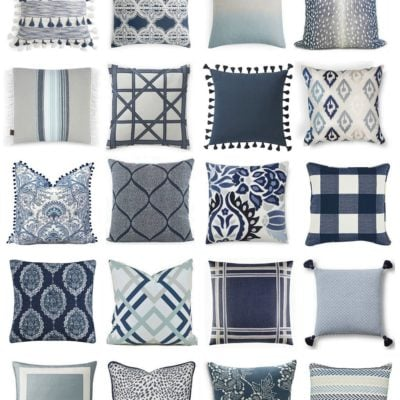 Mixing Pillow Patterns and Colors: Moody Monday