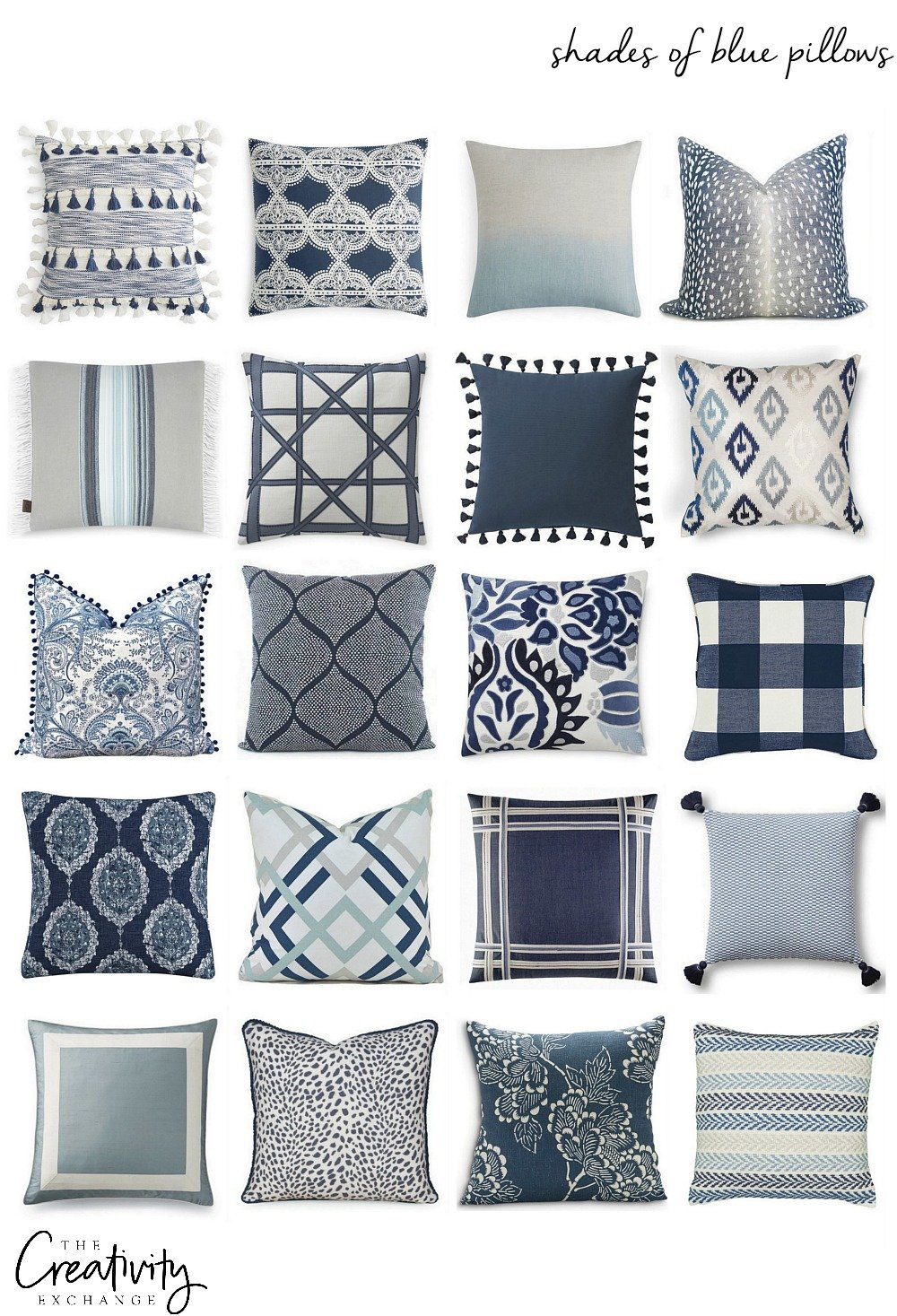 Mixing Pillow Patterns. Pillow Sources