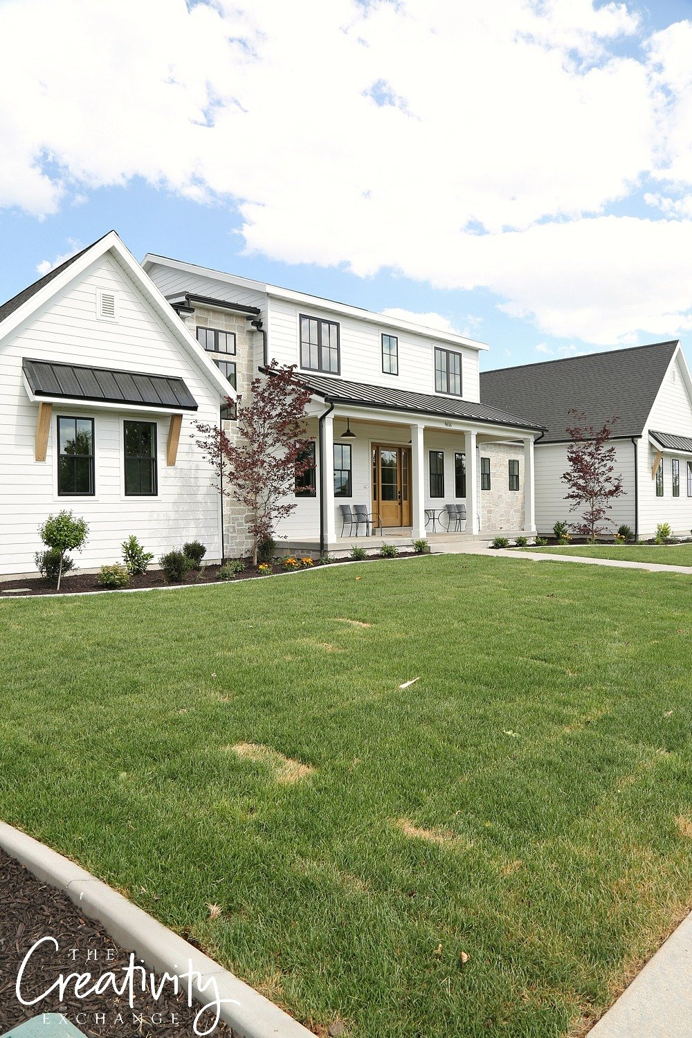 Modern Farmhouse Built by Millhaven Homes.