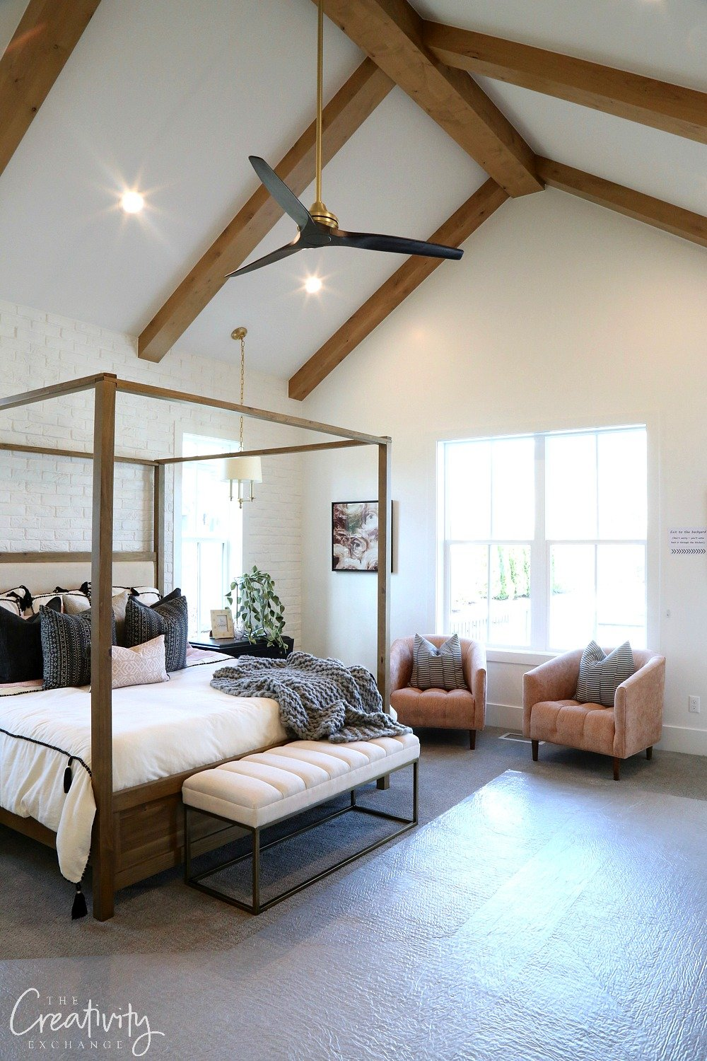 Modern Farmhouse Master Bedroom Design