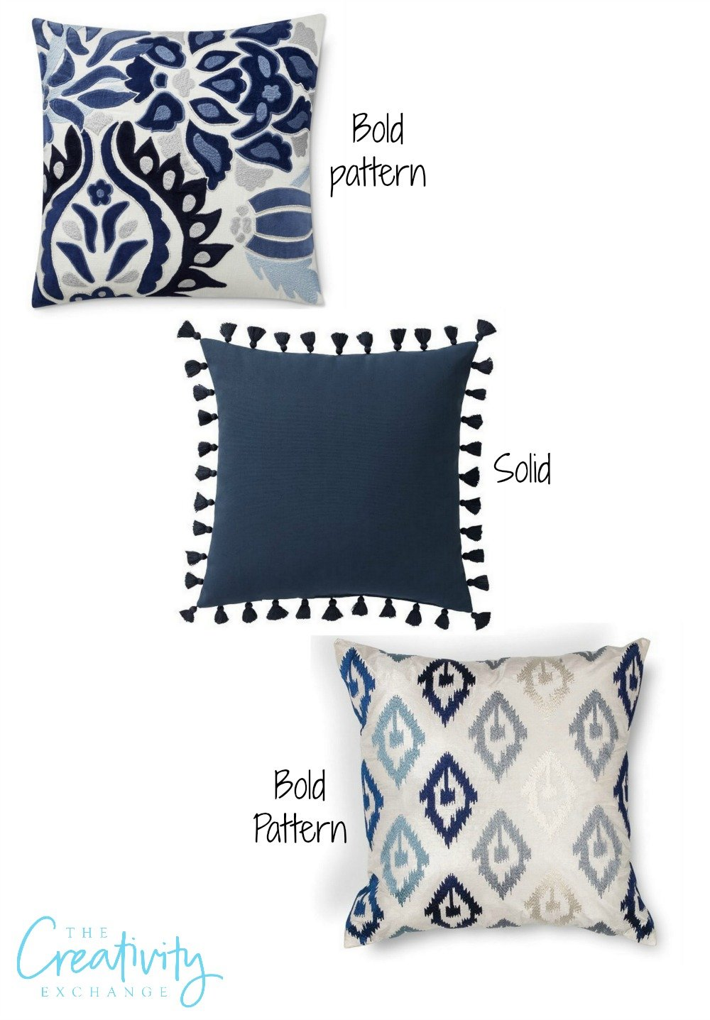 Tips for layering pillow and fabric patterns and colors