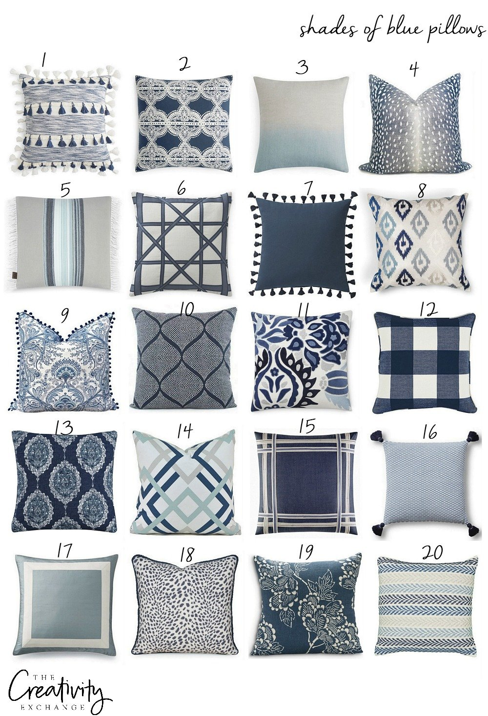 Tips for mixing pillow patterns and colors.