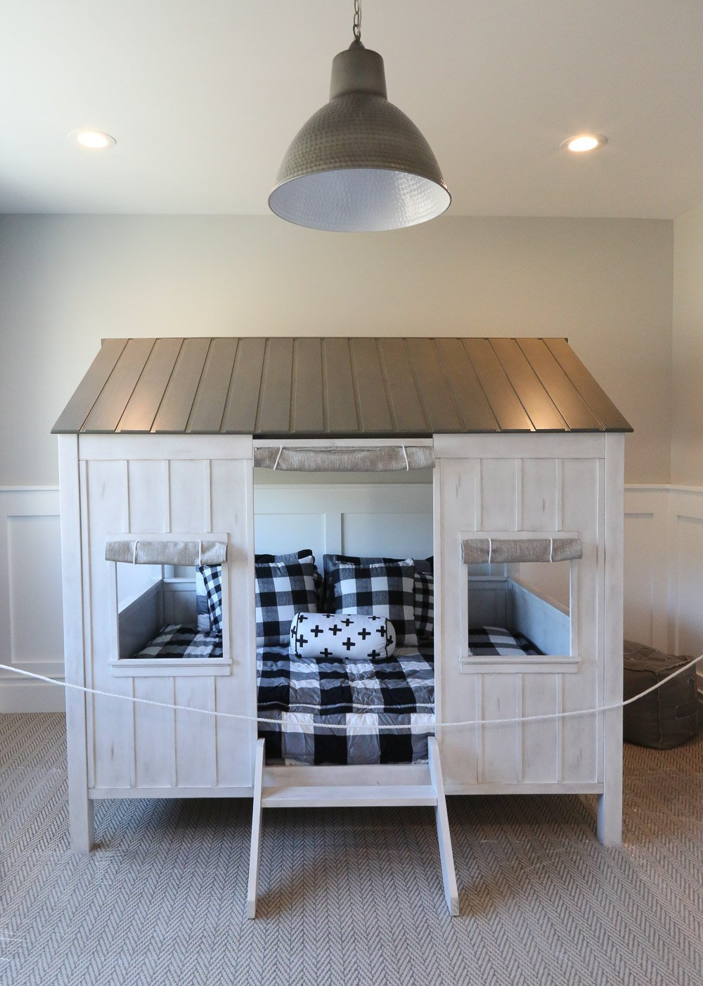 Enclosed bed as house