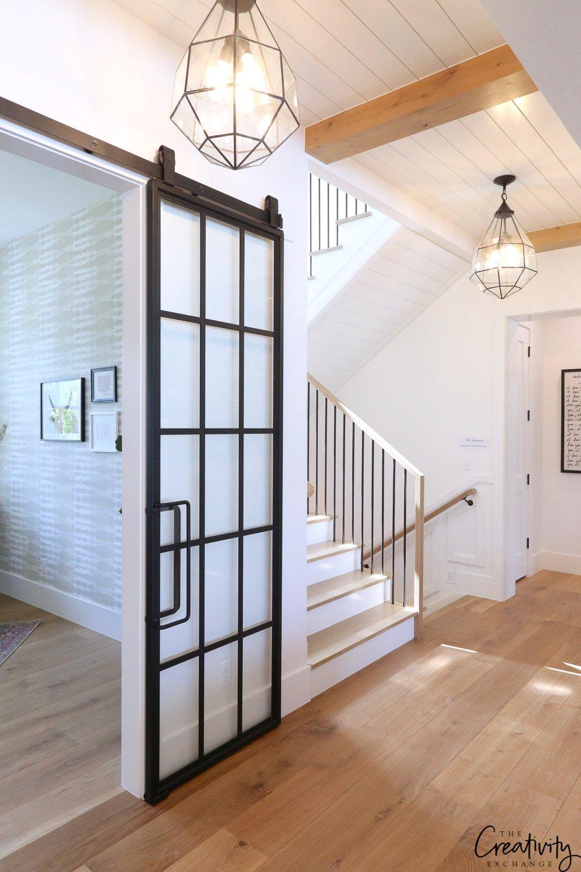 Modern farmhouse hallway
