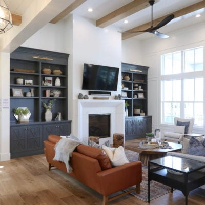 Modern farmhouse living room. Millhaven Homes