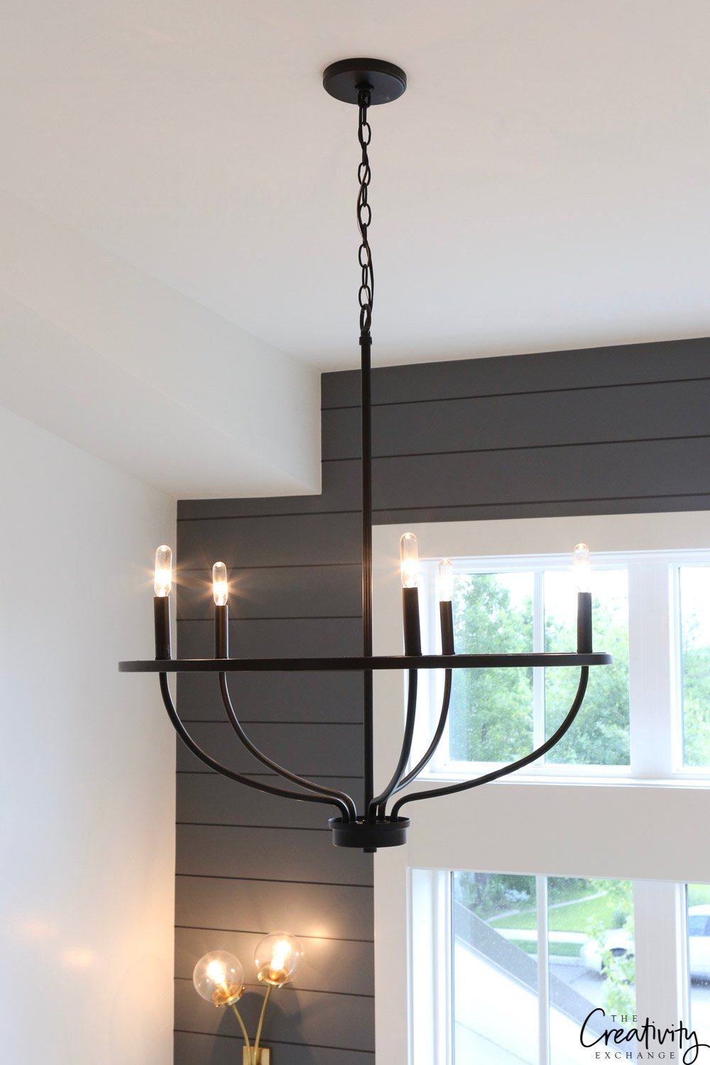Beautiful black iron chandelier