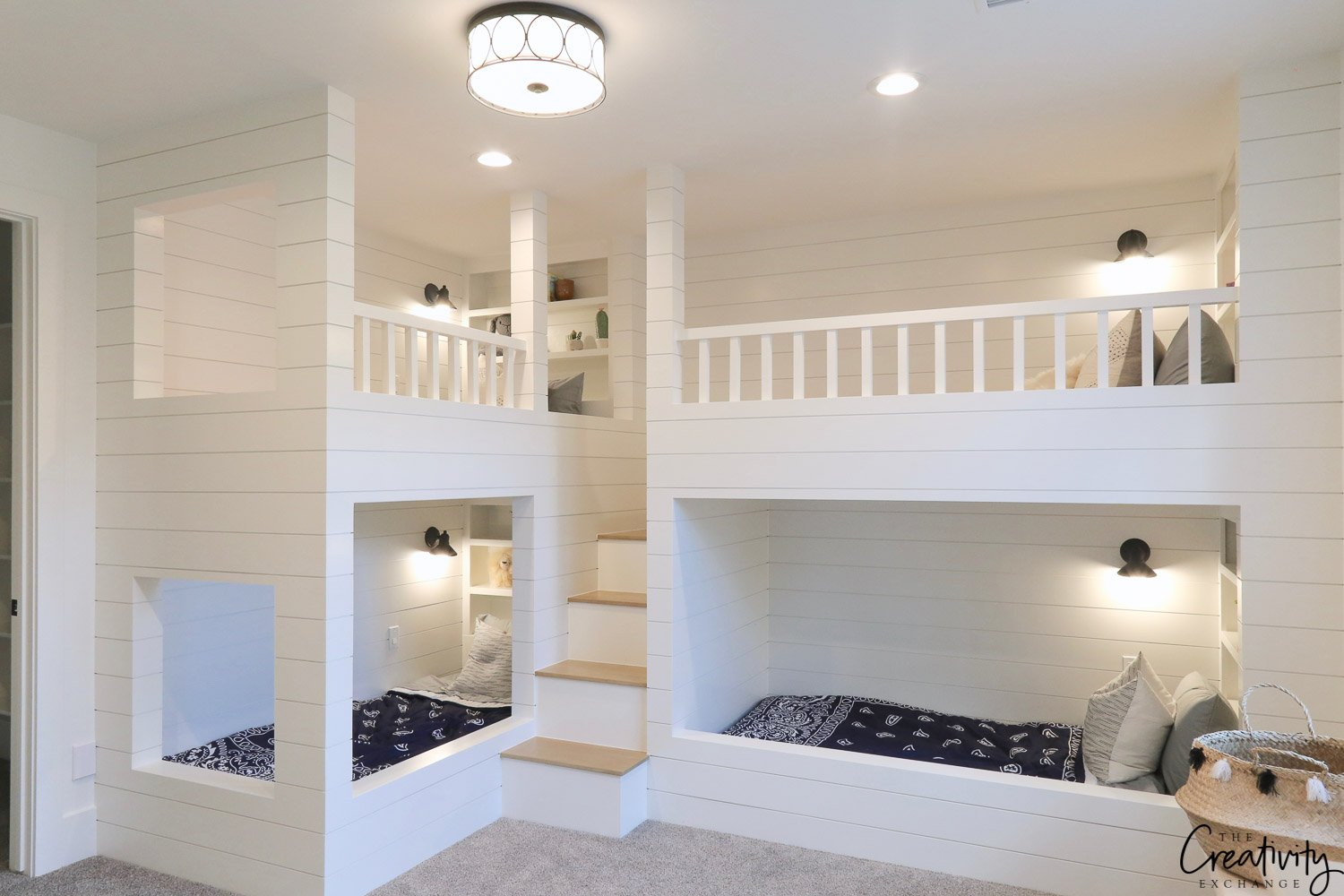 Modern farmhouse bunk beds
