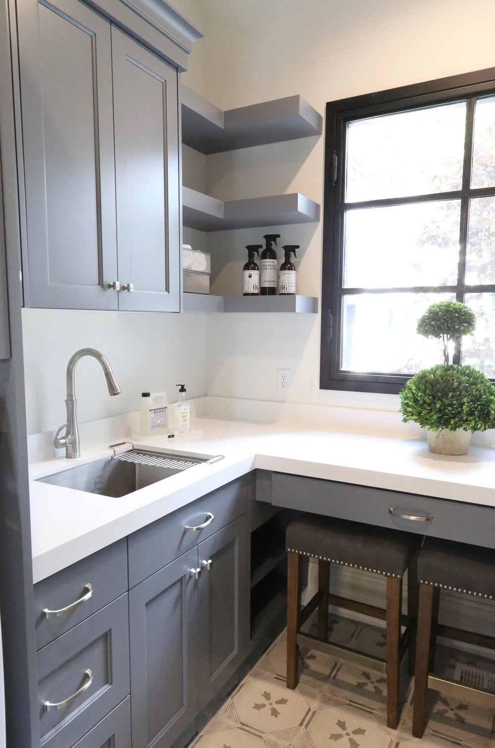 Cabinet Color is Benjamin Moore Trout Gray