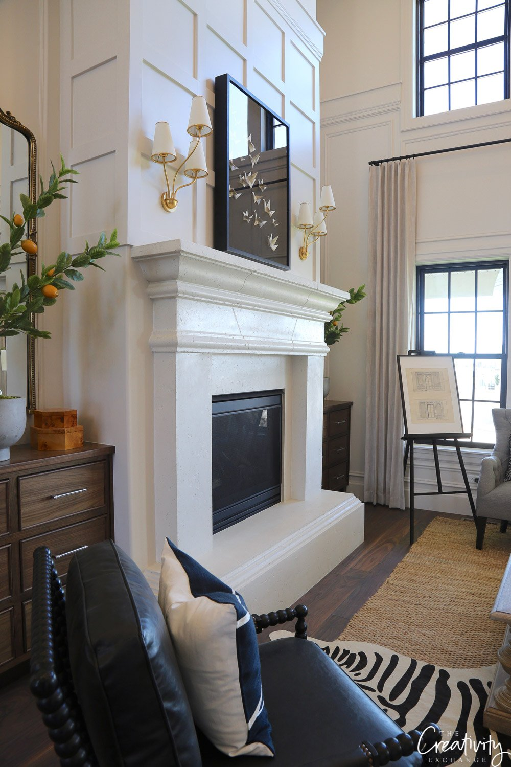 Stone fireplace. Utah Valley Parade of Homes