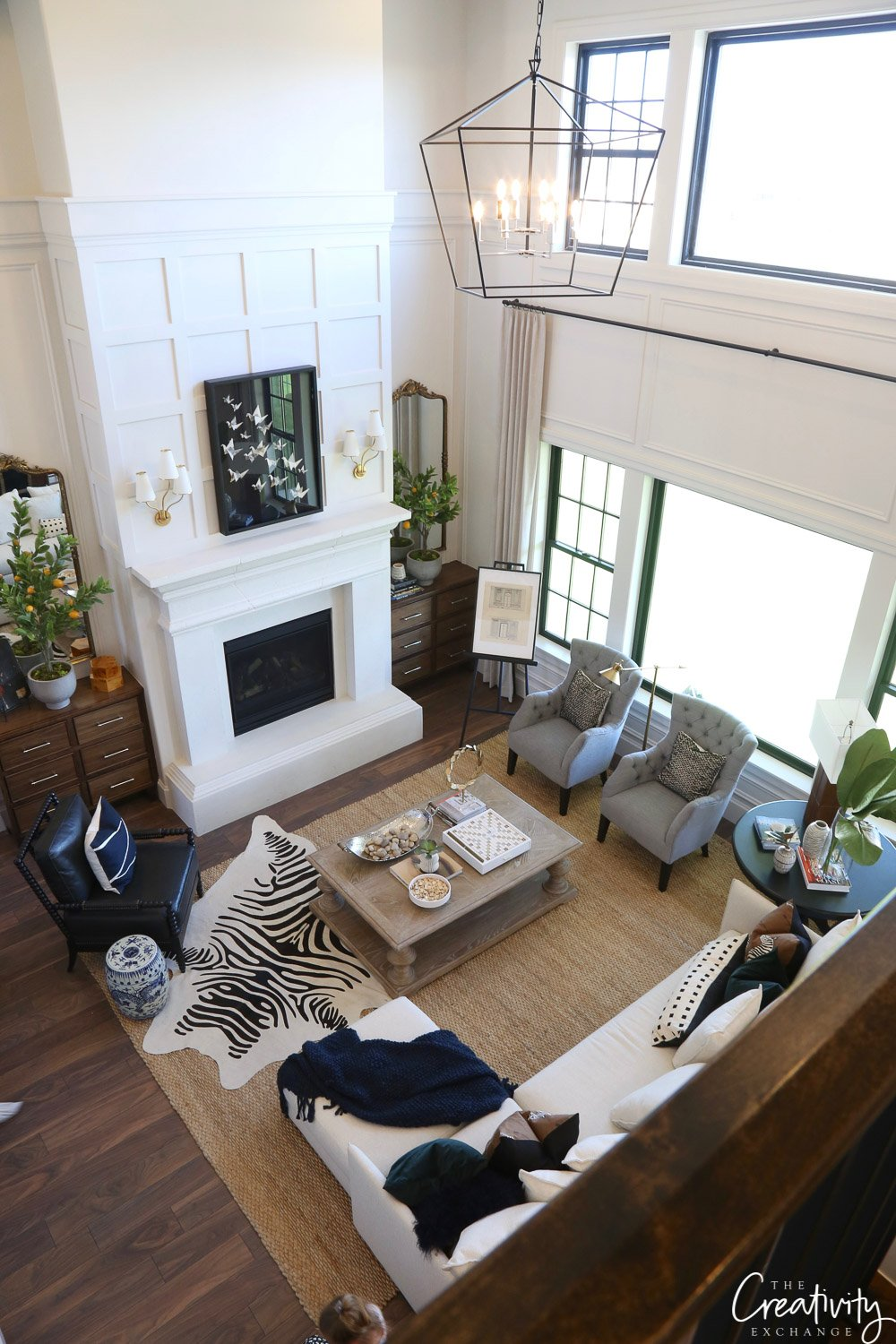 Open living room and great room.