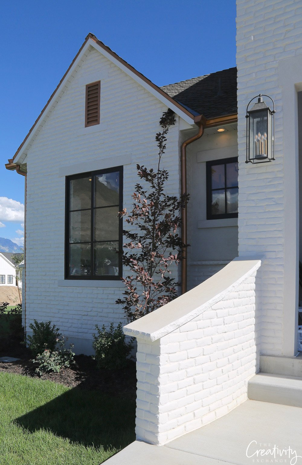 Painted brick exterior home. Utah Valley Parade of Homes.