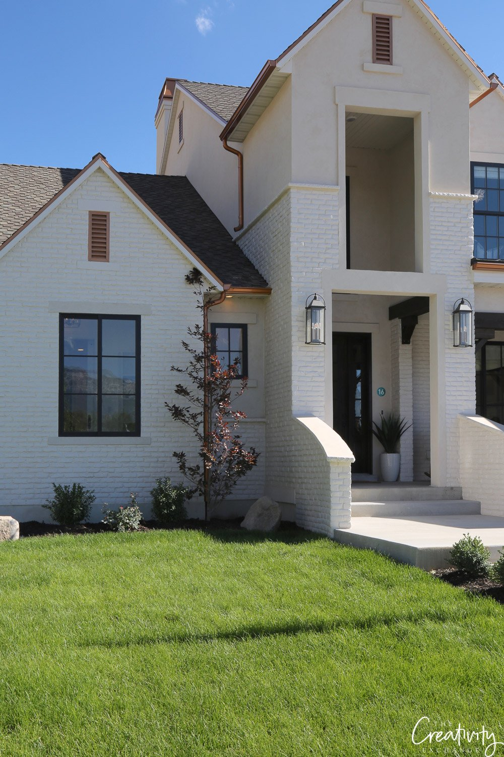 Painted brick exterior. Utah Valley Parade of Homes.