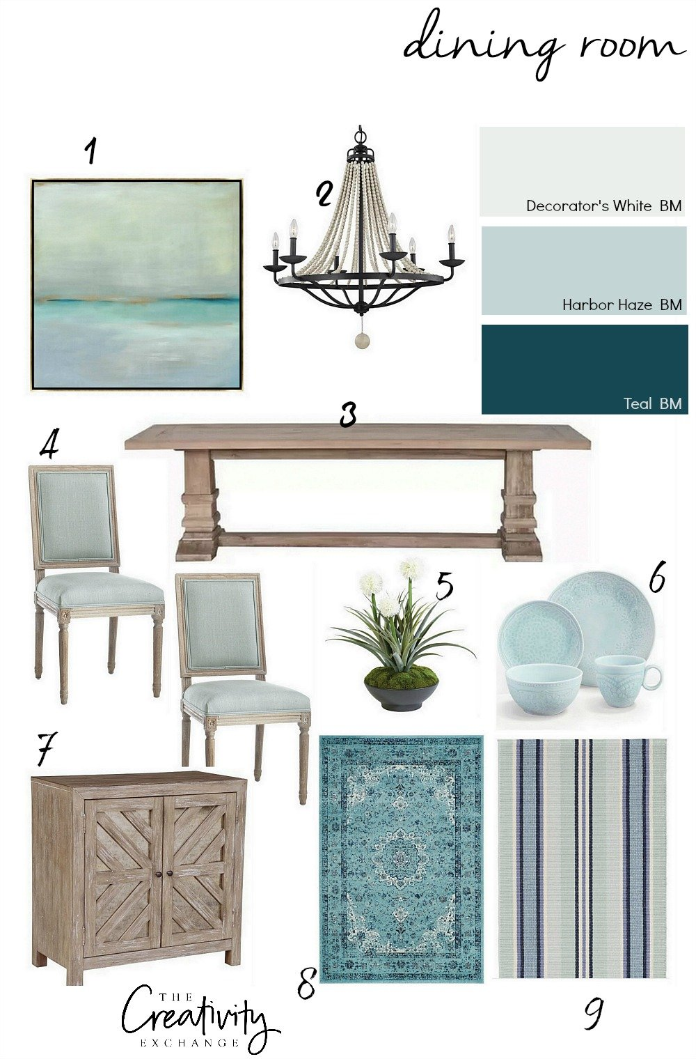 How to layer a transitional dining room