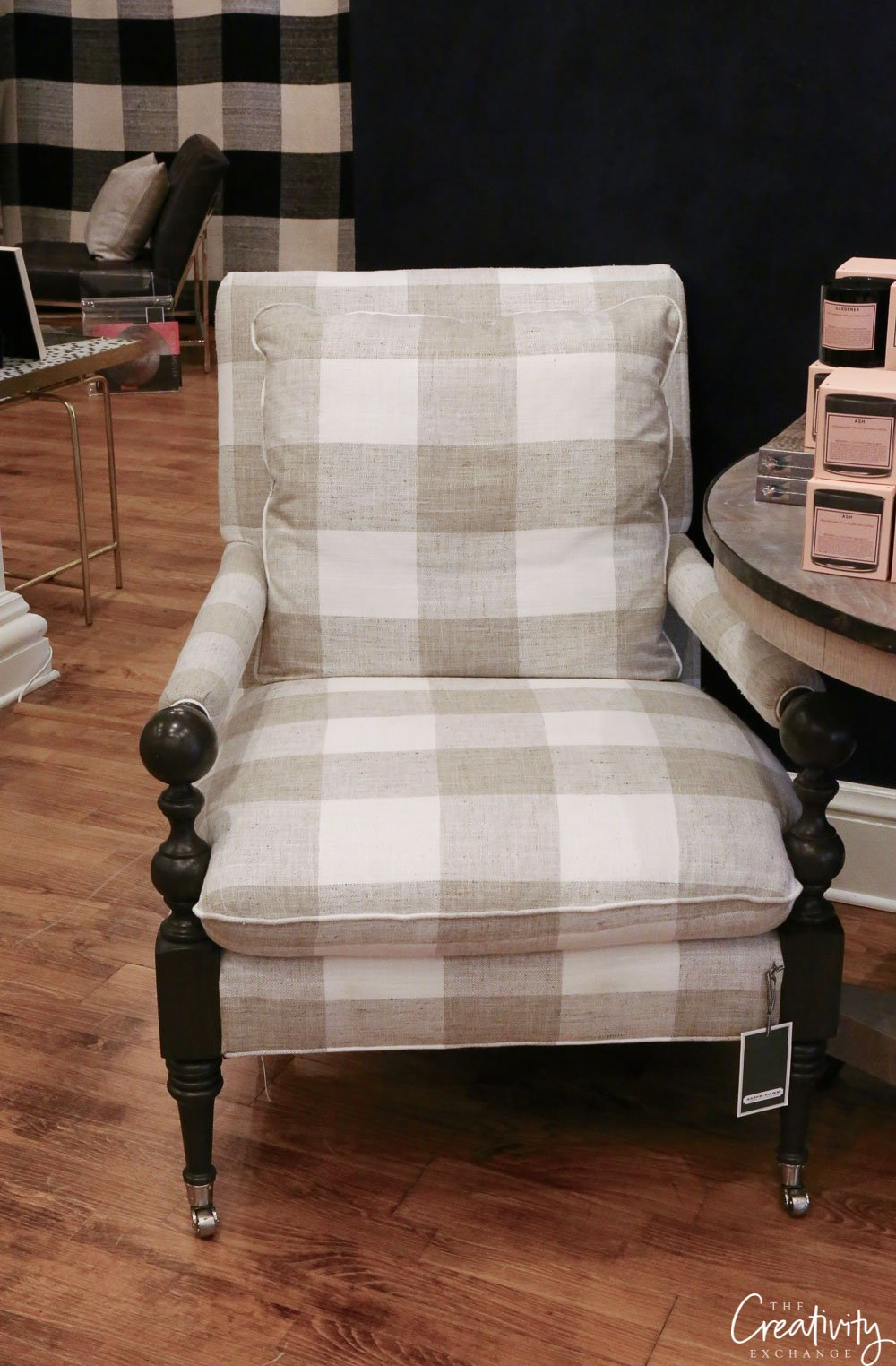 Buffalo check upholstered chair from Alice Lane