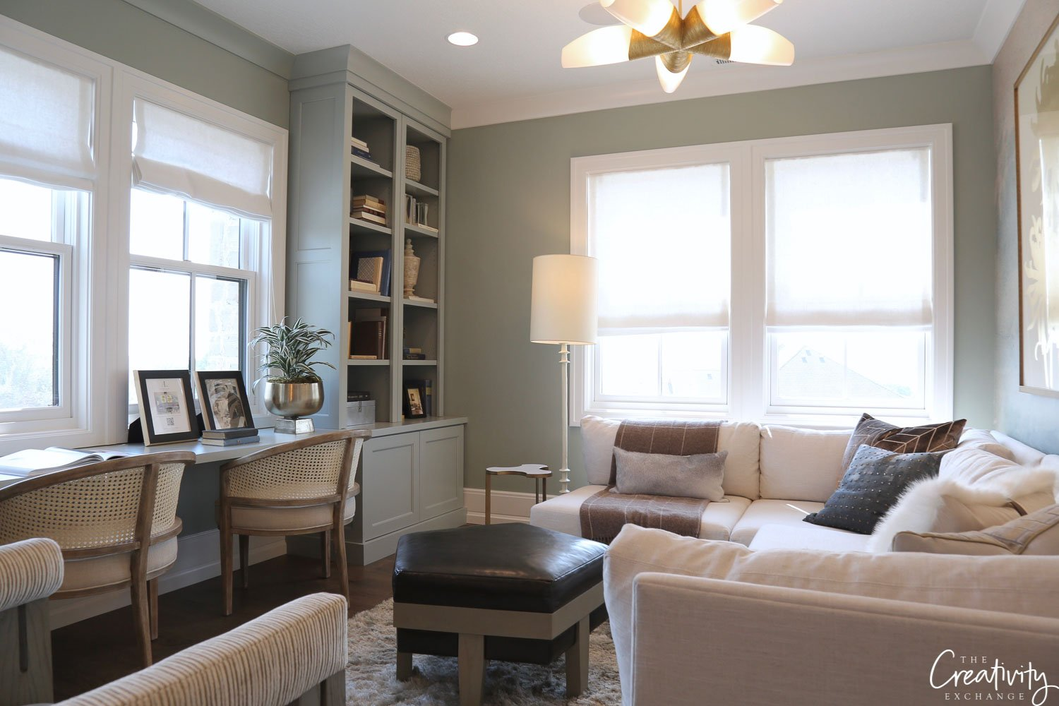 Blue gray office. Ivory Homes