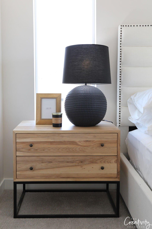 Bedside table as a dresser