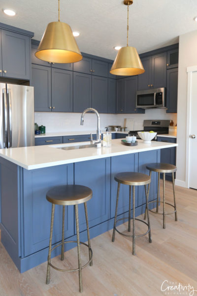 bi-color kitchen design