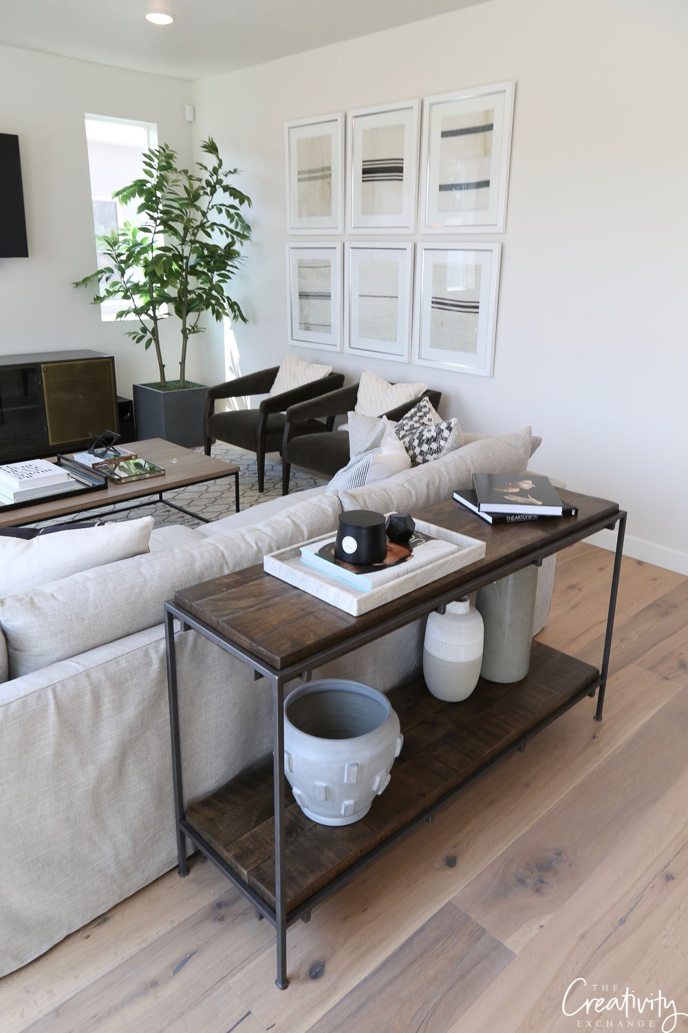 Side table as a room divider
