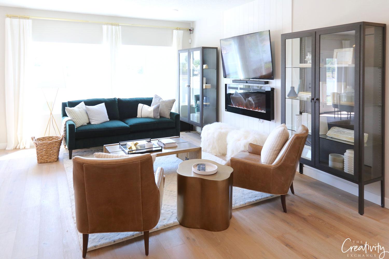 Modern living room styling