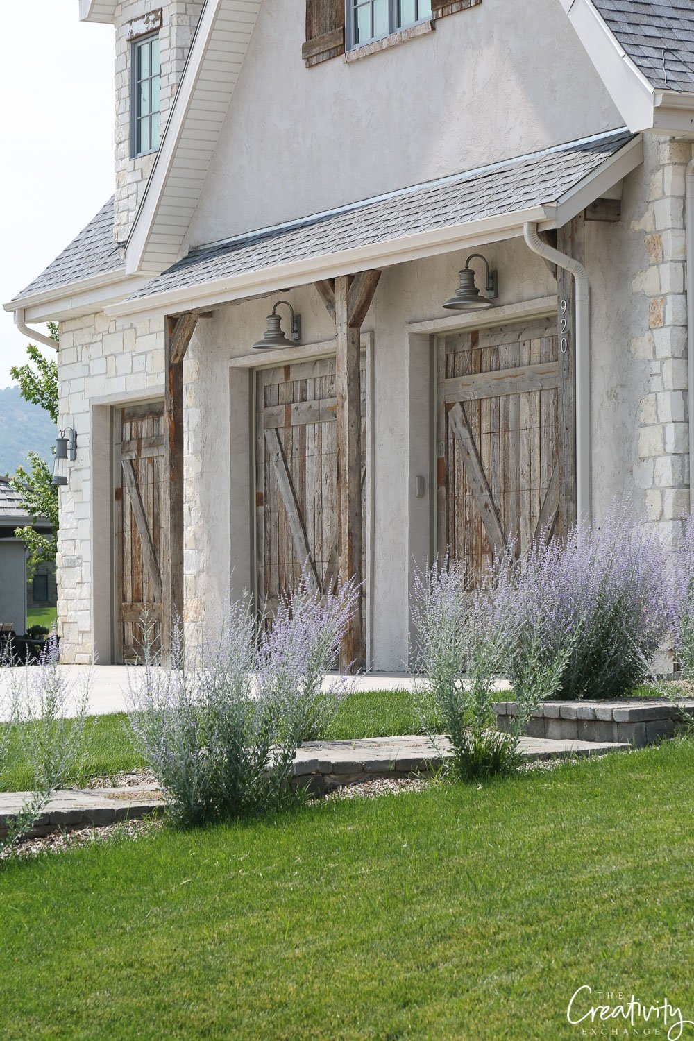 Reclaimed wood garage doors. Exterior home trends