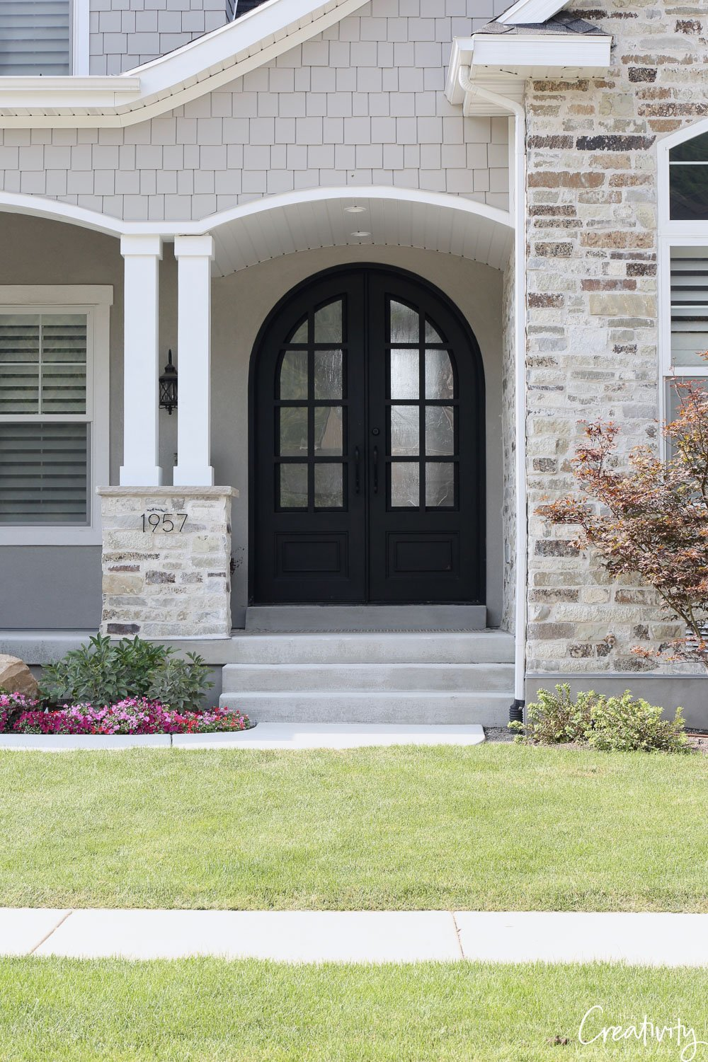 Stone accents. Exterior home trends