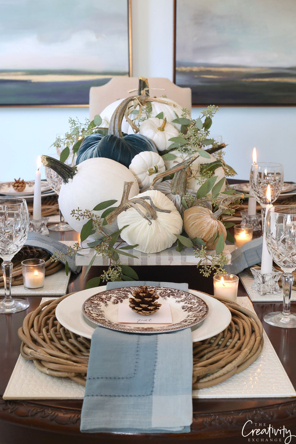 Fall tabletop top decor ideas