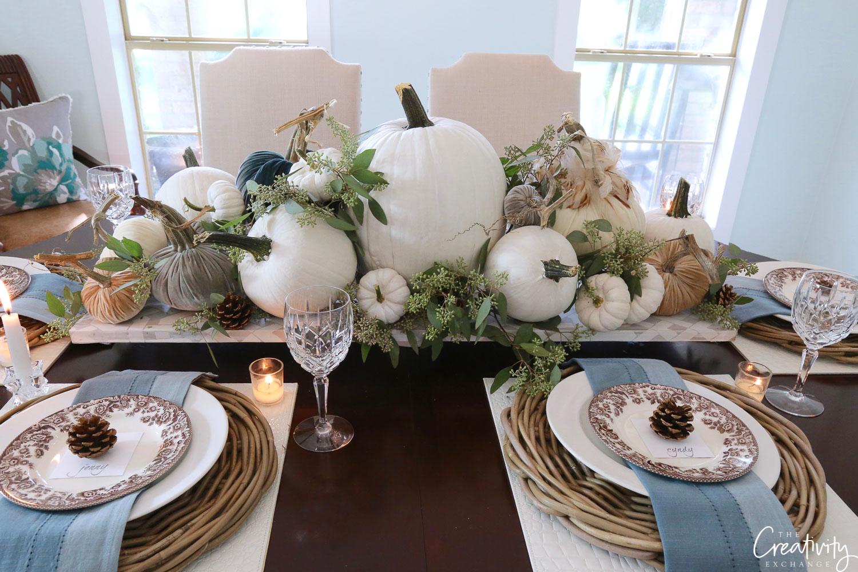 Fall tabletop top decor ideas