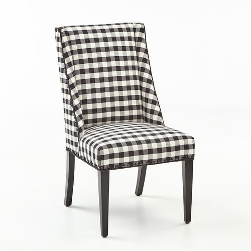 Owen Black and White Buffalo Check Dining Chair