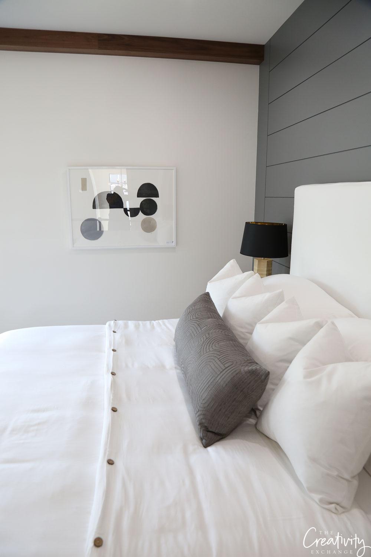 Contemporary modern farmhouse bedroom