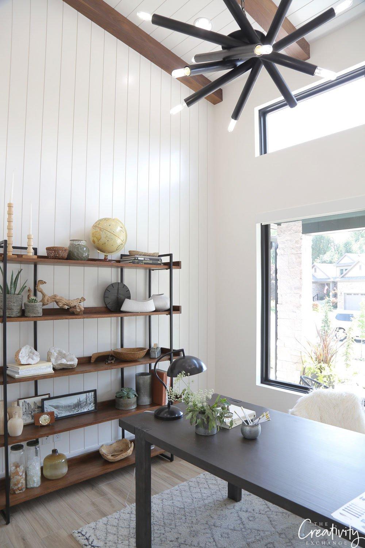 Contemporary modern farmhouse office