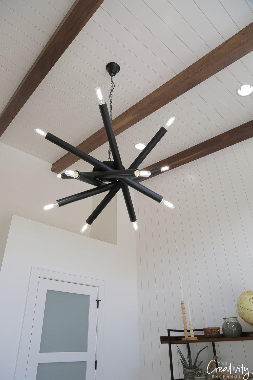 Black modern light fixture