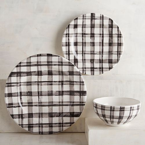 Buffalo plaid check dishes from Pier 1