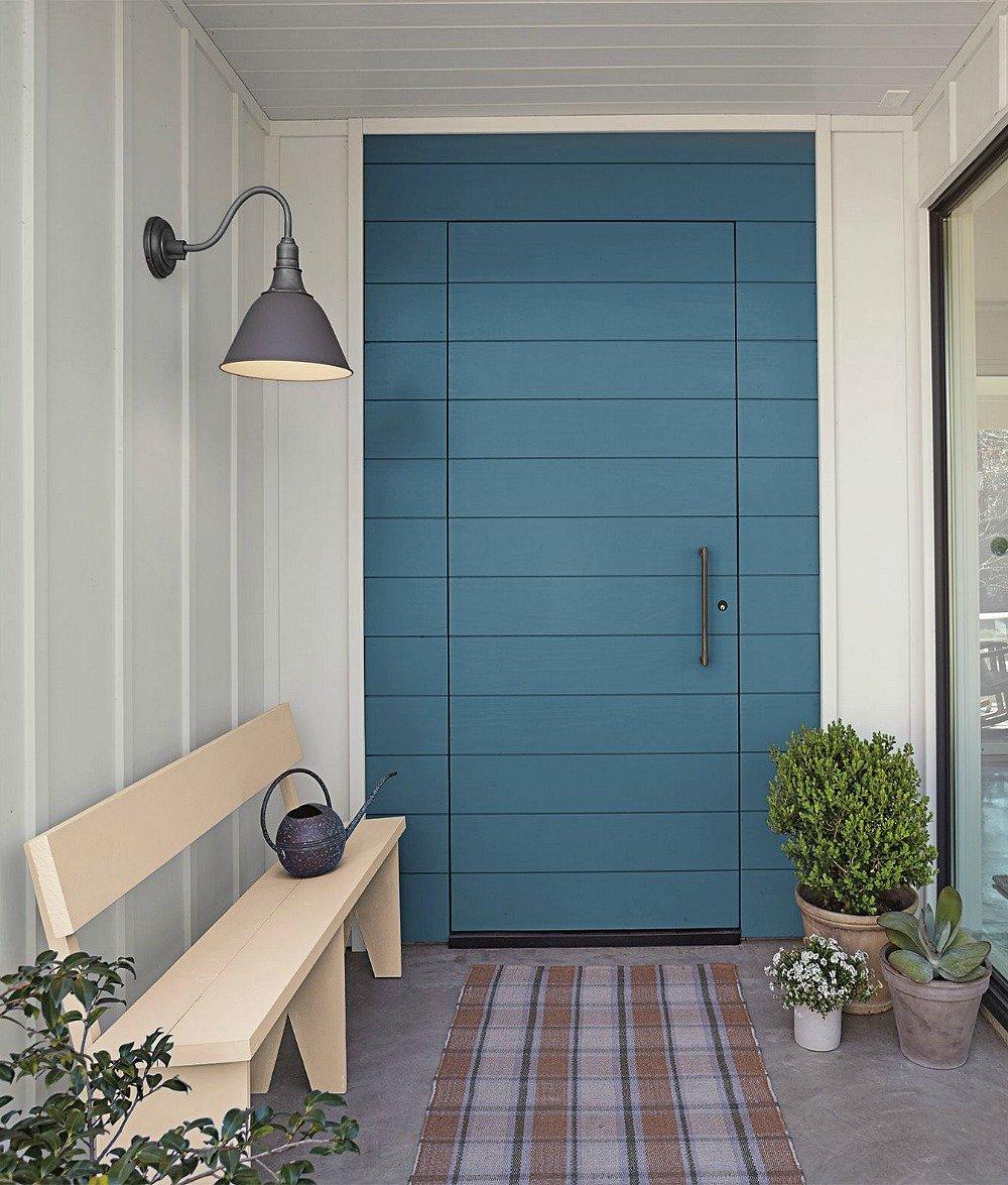 Door painted with BEHR Blueprint