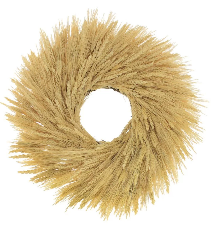Fall wheat wreath from Wayfair