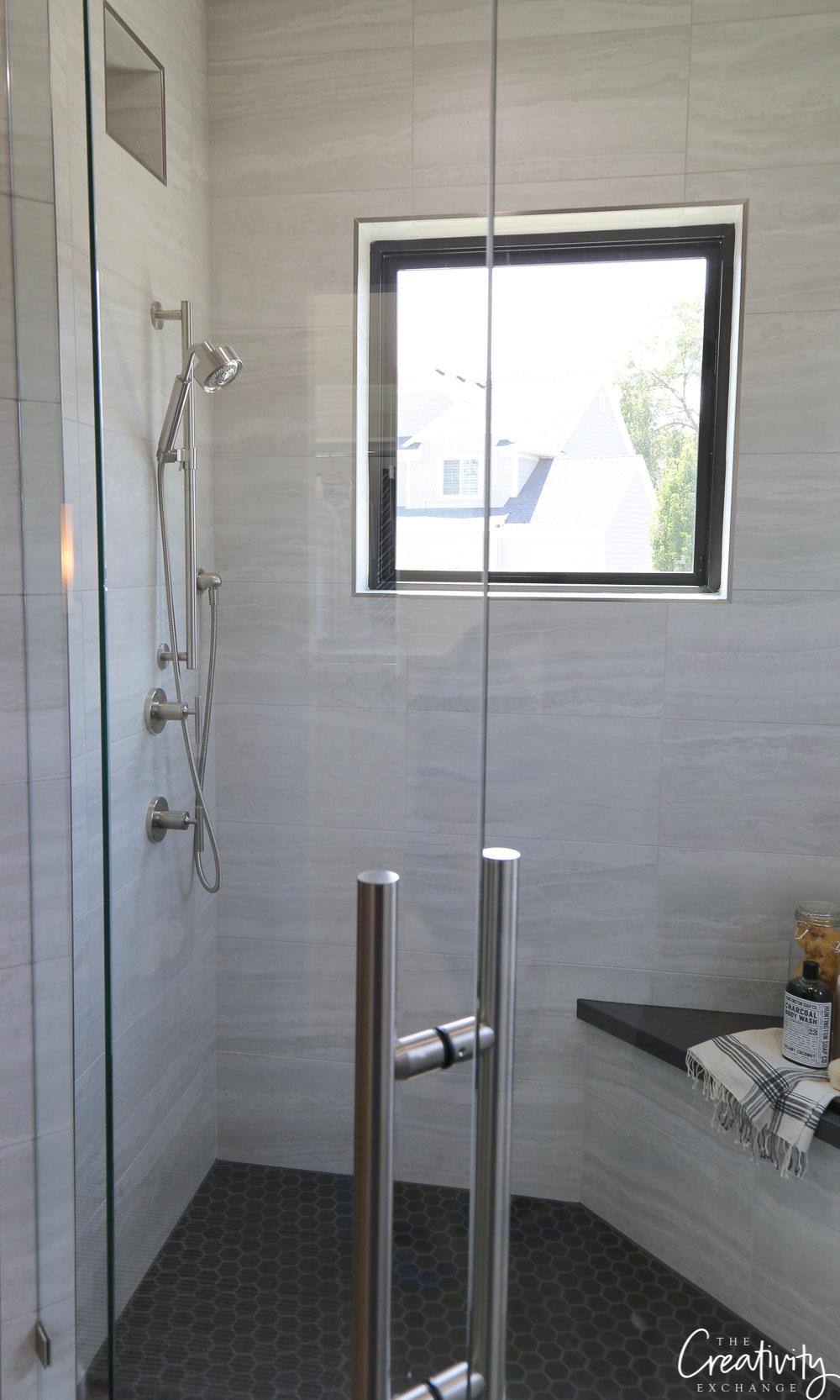 Inside of shower