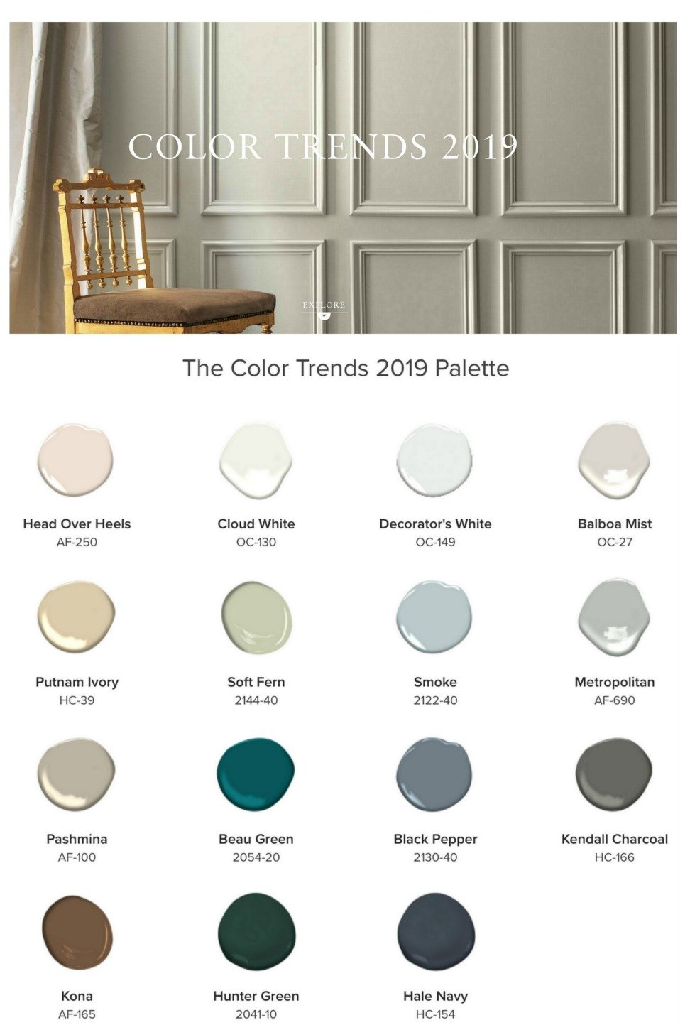 2019 benjamin moore color of the year - 2019 color trends home ...