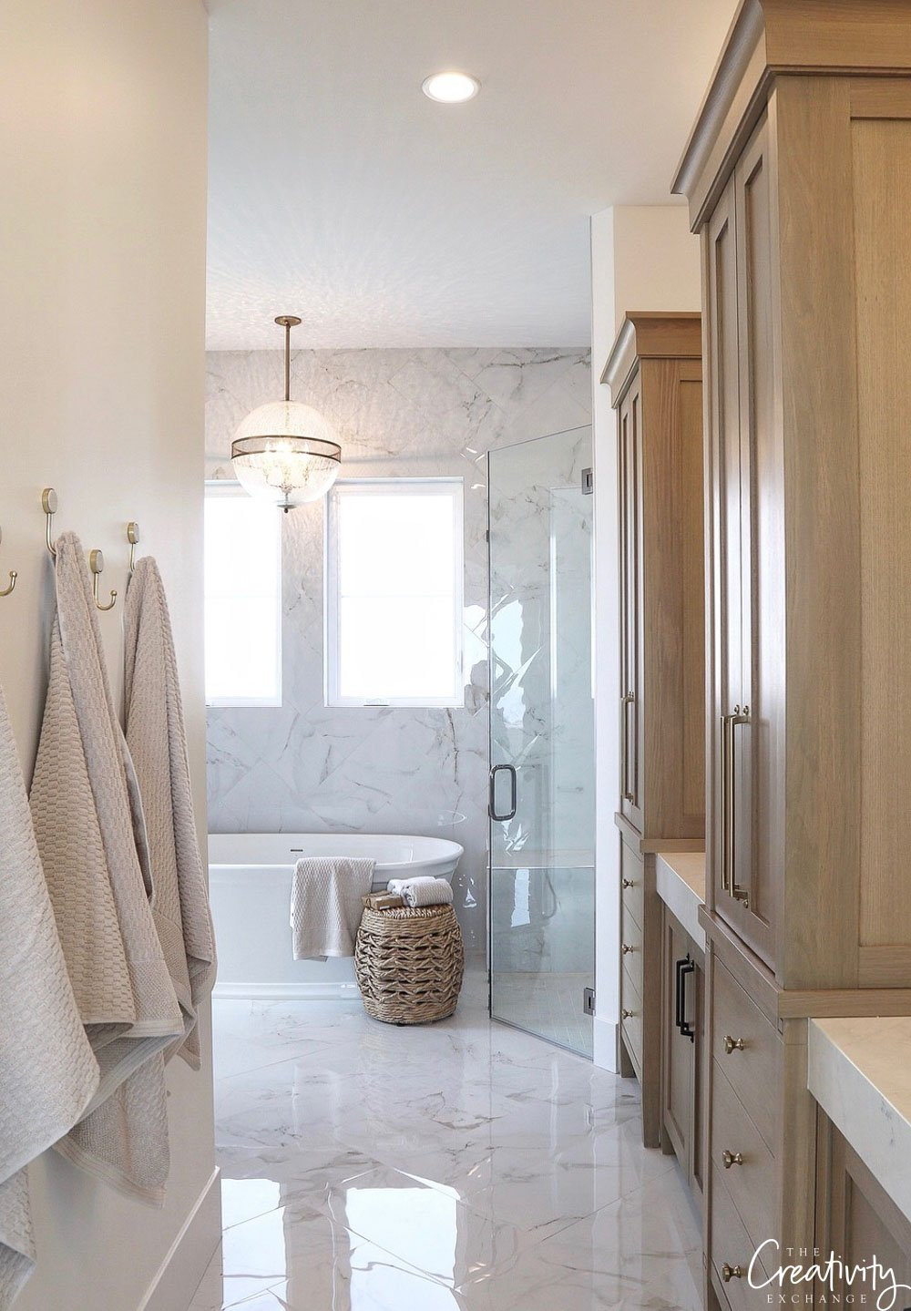 Marble bathroom. Simons Design Studio