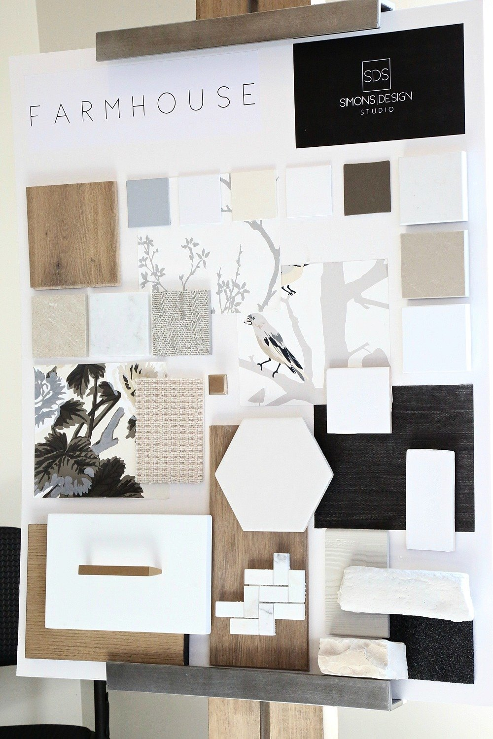 Modern Farmhouse Design Board. Simons Design Studio
