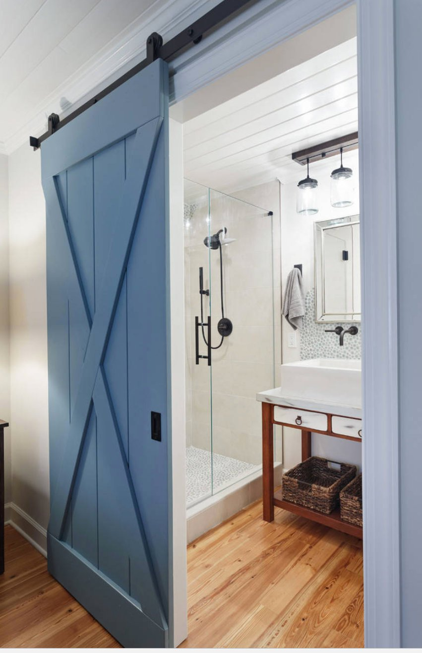Door color is Sherwin Williams Secure Blue