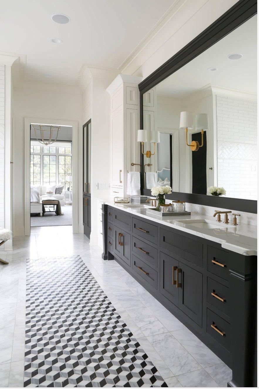 Matte black bathroom vanity