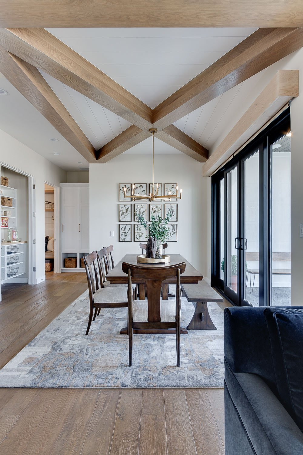 Modern Farmhouse Dining Room and Home Tour. Simons Design Studio