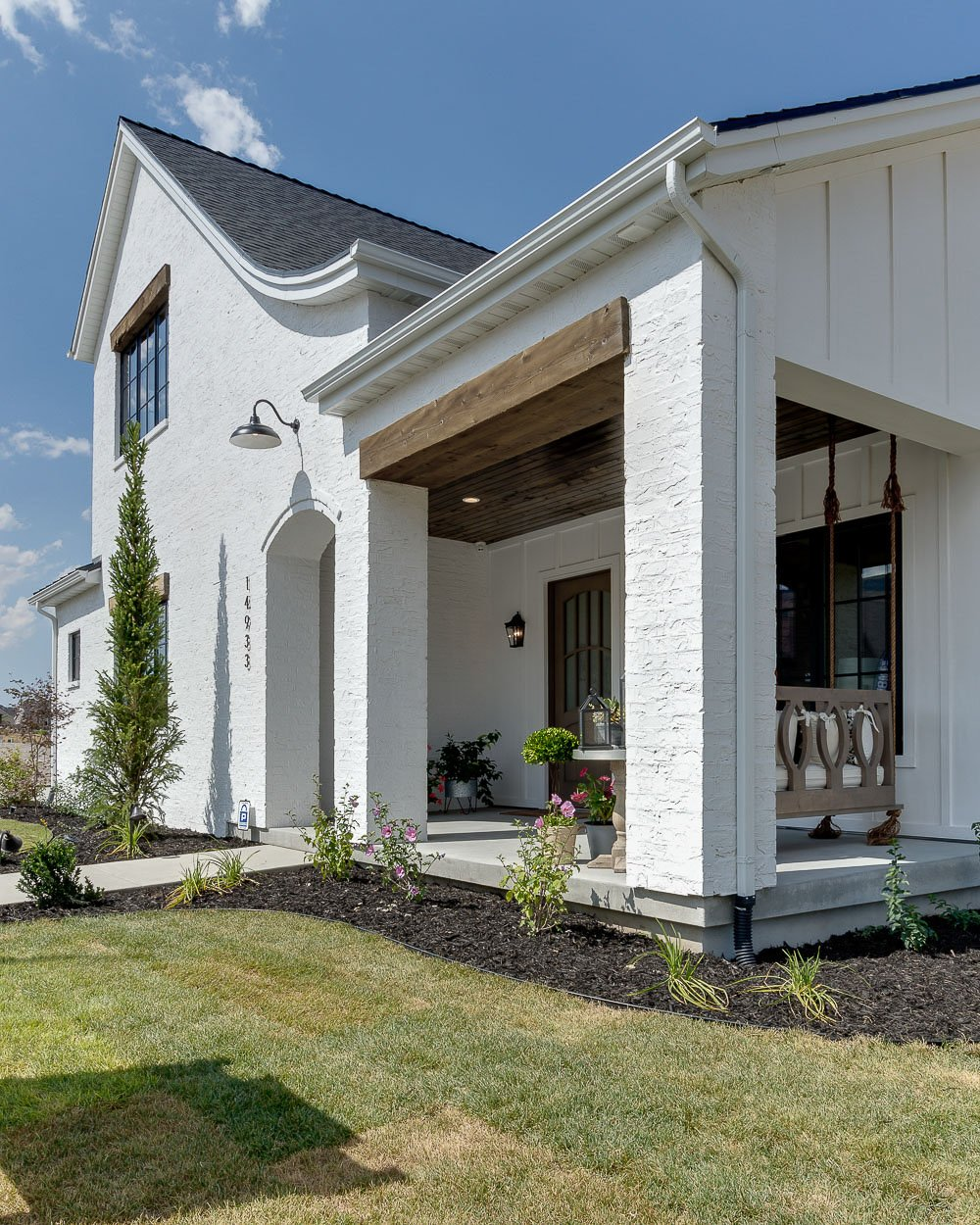 Modern Farmhouse Exterior. Simons Design Studio