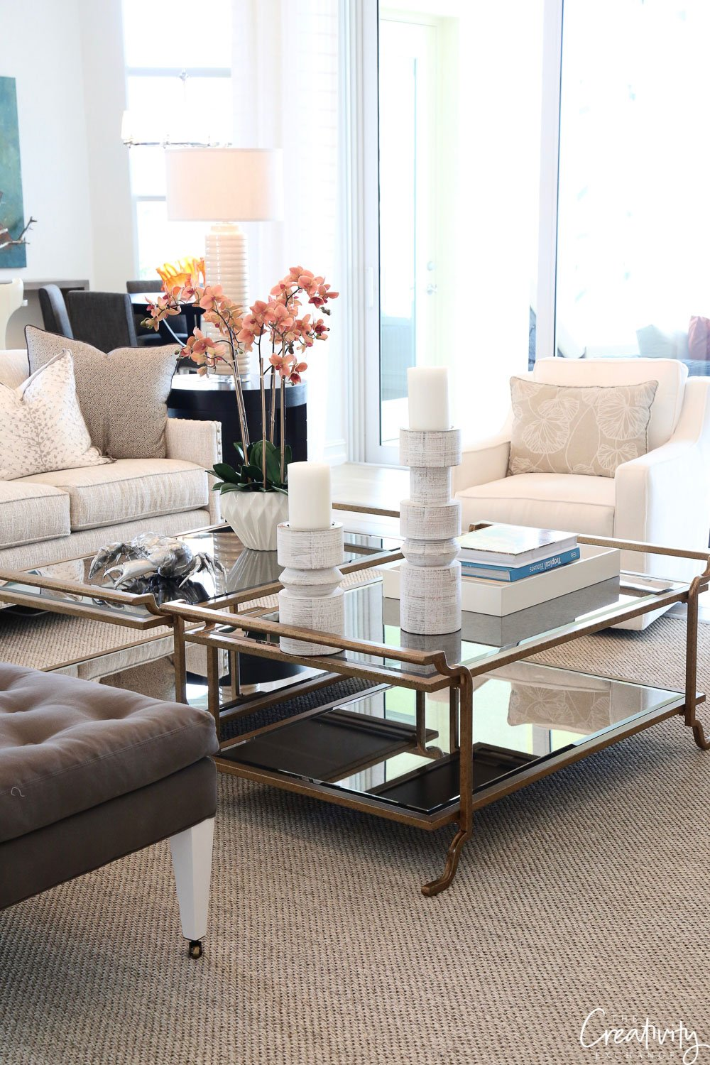 Two coffee tables to fill up a space