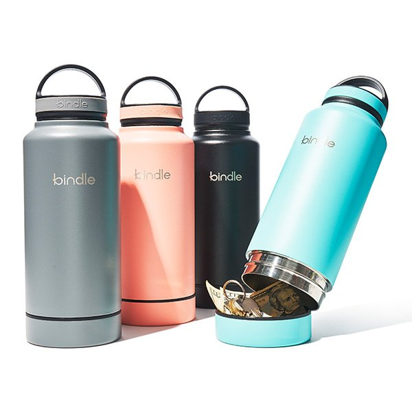 Bindle Water Bottles with Hidden Compartment for Keys and money