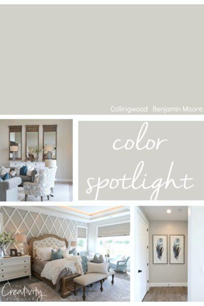 Benjamin Moore Collingwood. Color Spotlight